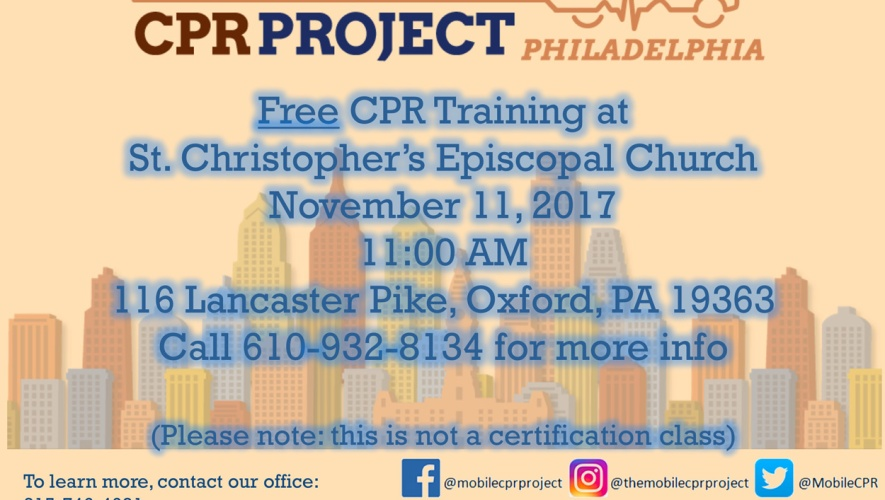 Free Cpr Training St Christophers Episcopal Church